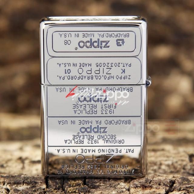 Bật lửa Zippo phiên bản khắc 12 mộc đáy in bản gỗ