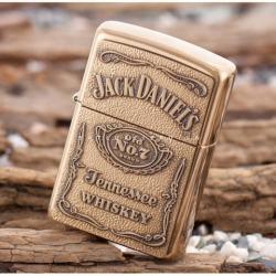 Bật lửa Zippo chính hãng mẫu đồng thương hiệu rượu vang Jack Daniel's