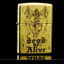 ZIPPO Lighter counter genuine original brass lateral skull danger signs - Mã SP: ZPC0061