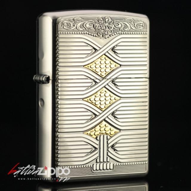 Bật lửa Zippo phiên bản bạc cổ Hàn Quốc