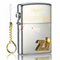 Bật lửa zippo chính hãng phiên bản Hàn Quốc logo ZI (gold diamond counter genuine limited special ZI font) - Mã SP: ZPC0176